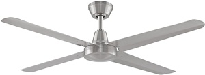 Fanimation Ascension FP6717BN High Power Indoor Outdoor Ceiling Fan with 54-Inch Blades, 3 Speed Wall Control, Brushed Nickel