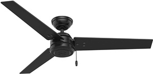 Hunter Fan Company 59264 Hunter 52in Cassius Matte Black Ceiling Fan