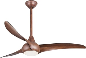 Minka-Aire F844-DK Light Wave 52in Ceiling Fan with LED Light and Remote, Distressed Koa