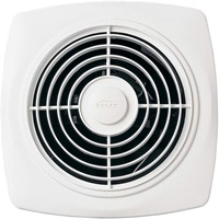 Broan-NuTone 509 Through-the-Wall Ventilation Fan, White Square Exhaust Fan