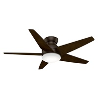 Casablanca Indoor Low Profile Ceiling Fan with LED Light and wall control - Isotope 52 inch