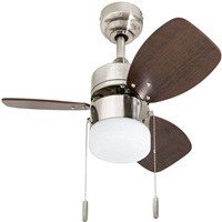 Honeywell Ceiling Fans 50601 01 Ocean Breeze Contemporary 30 inch LED Frosted