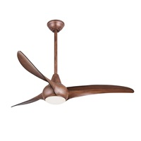 Minka-Aire F844-DK Light Wave 52 inch Ceiling Fan with LED Light and Remote, Distressed Koa