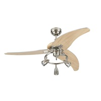 Westinghouse Lighting 7850500 Elite 48-Inch Brushed Nickel Indoor Ceiling Fan, Light Kit with Three Spotlights