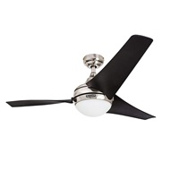 Honeywell Ceiling Fans 50195 Rio 54 inch Ceiling Fan with Integrated Light Kit and Remote Control, Brushed Nickel