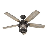 Hunter 59420 Contemporary Modern 52``Ceiling Fan from Coral Bay collection Dark finish, Noble Bronze