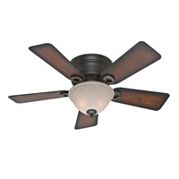 Hunter Fan Company 51023 Hunter Conroy Indoor Low Profile Ceiling Fan with LED Light and Pull Chain Control, 42 inch, Onyx Bengal