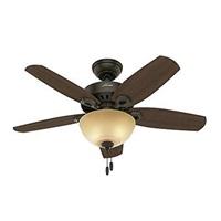 Hunter Fan Company 52218 Builder Small Room New Bronze Ceiling Fan With Light 42 Pwt Nckl B S Slvr