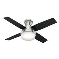 Hunter Fan Company 59243 Hunter Dempsey Indoor Low Profile Ceiling Fan with LED Light and Remote Control, 44 inch Brushed Nickel