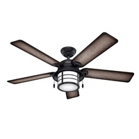 Hunter Fan Company Hunter 59135 Nautical 54 Ceiling Fan from Key Biscayne Collection in Bronze Dark Finish Weathered Zinc