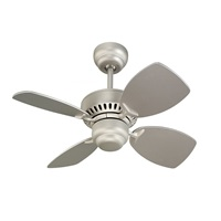 Monte Carlo 4CO28BP Colony II 28 Ceiling Fan for Small Space, 4 Blades, Brushed Pewter
