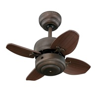 Monte Carlo 4MC20RB Mini 20 Ceiling Fan with Pull Chain for Small Space, 4 Blades, Roman Bronze