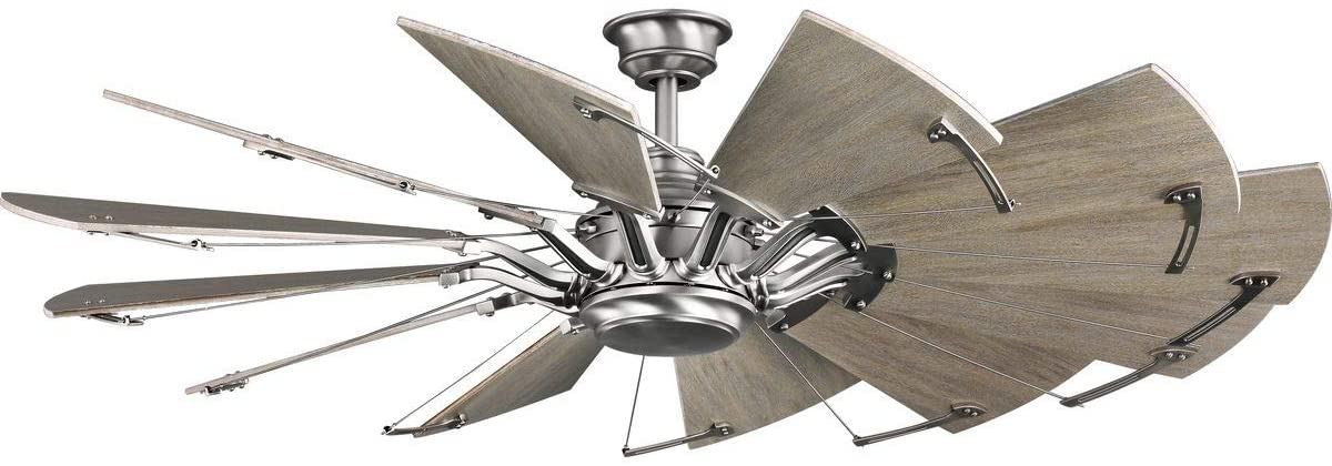 Progress Lighting P250000-081 Springer Ceiling Fans, Nickel